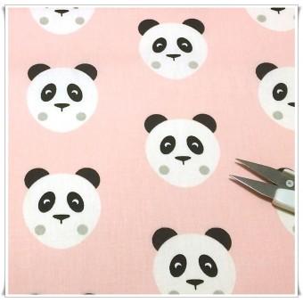 Retal tela caritas osos rosa 100x92 cms