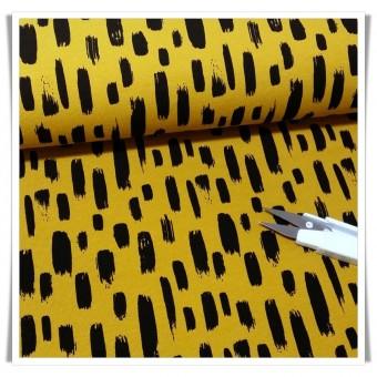 Retal jersey mostaza stripes 40x71 cms