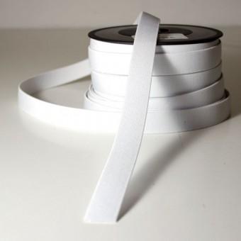 Goma elástica plana 20mm blanco