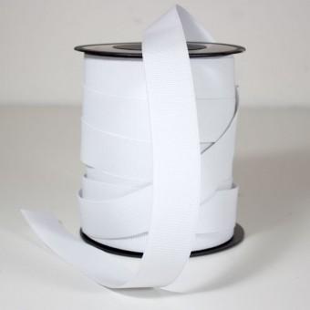 Goma elástica plana 30mm blanco