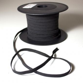 Cinta plana elástica negra 7mm