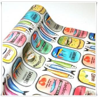 Retal tela sardinas impermeable 49 cms