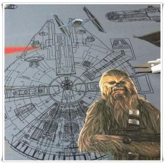 Retal tela algodon Star Wars Chewbacca 82cms