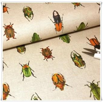 Retal loneta escarabajos bichos 62x62cms