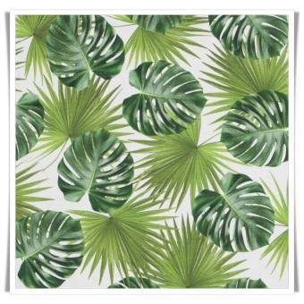 Retal loneta hojas verdes 50cm