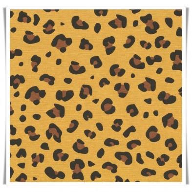 Loneta mostaza animal print