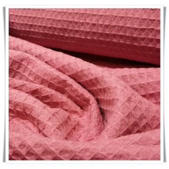 Tela waffle old pink