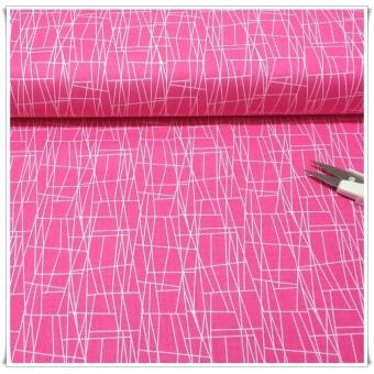 Retal tela atomic web pink 44cms