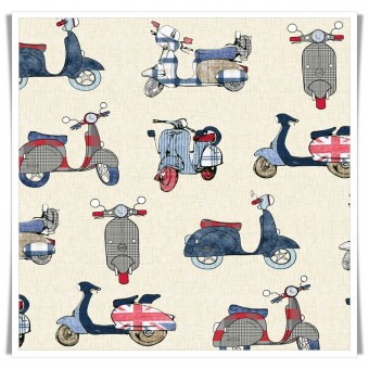 Fat quarter vespas vintage