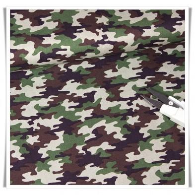 Tela popelin camuflage