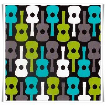 Tela Guitarras patchwork