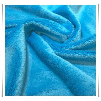 Tela minky - azul turquesa