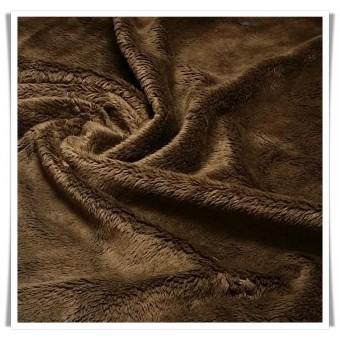 Tela minky - marrón