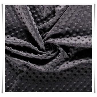 Minky relieve topos - gris oscuro