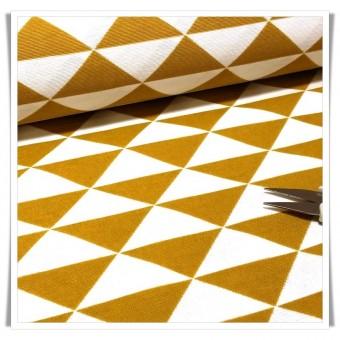 Loneta triangulos mostaza