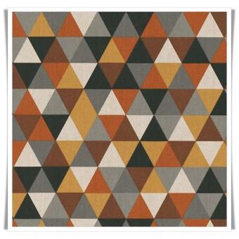 Retal loneta triángulos marrón