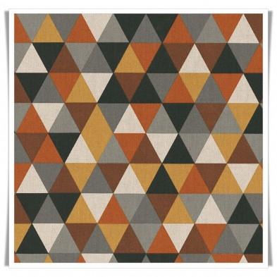 Retal loneta triángulos marrón - 1m