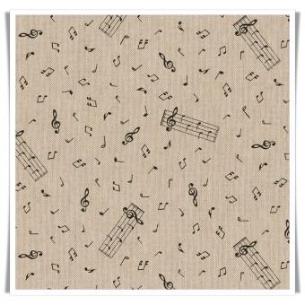 Retal loneta notas musicales - 50cms