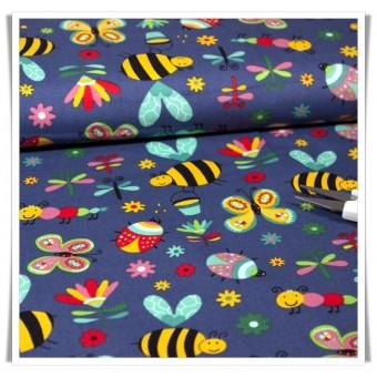 Retal tela abejas marino 63cms