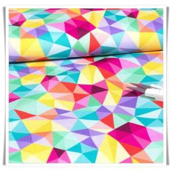 Tela impermeable - arcoiris geometrico
