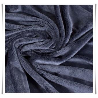 Tela peluche minky - azul marino
