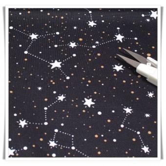 Tela impermeable - constelaciones negro