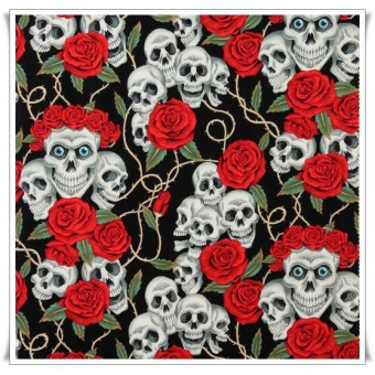 Fat quarter rose tattoo negro