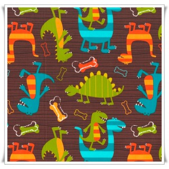 Fat quarter dino dudes