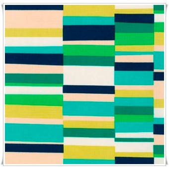 Loneta Pop Stripes Emerald