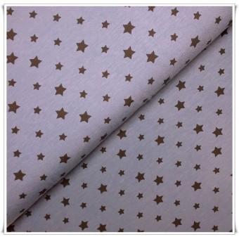 Tela Jersey Estrellas Azul