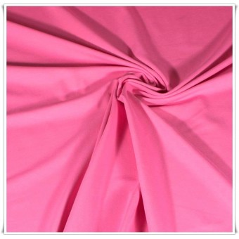 Tela de punto algodón rosa