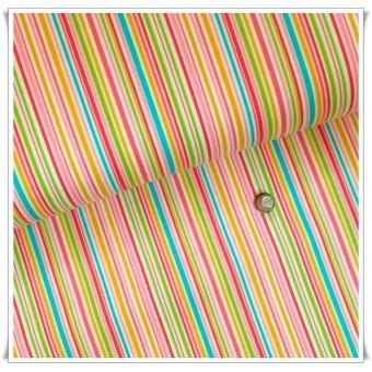 Franela rayas multicolores
