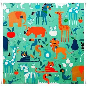 Retal tela Zoo Bisou 97x60 cms