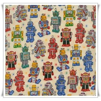 Retal tela robots crema 34 cms