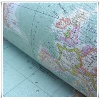 Loneta Mapa Mundi impermeable