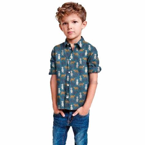 Camisa tela infantil osos