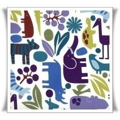 Tela de algodón con decoración de animales