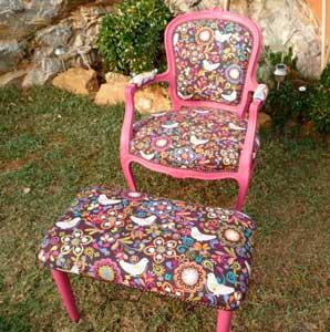 Sofa tapizado tela palomas