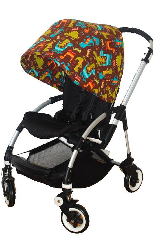 Tela bonita para capota de silla de bebe