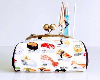 Monedero con tela sushi
