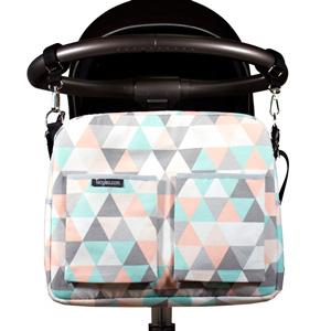 Loneta estampada triangulos pastel