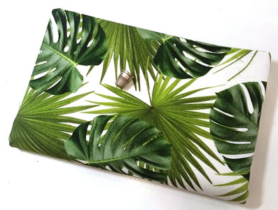 Loneta hojas verdes 100% algodon