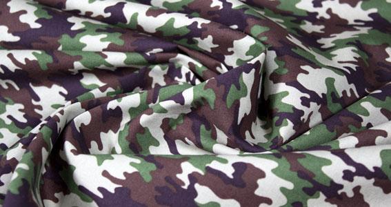 Popelin estampado militar camuflage