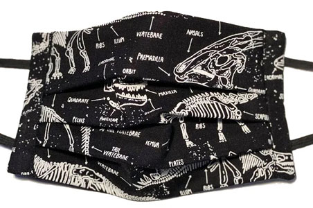 Mascarilla tela dinosaurios