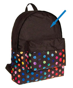 Tela impermeable negra para coser mochila infantil