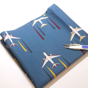 Detalle tela loneta aviones
